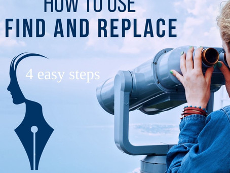 How to use Find and Replace - in 4 easy steps