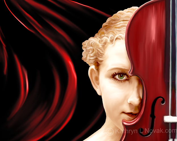 Red Violin, Open Edition Art Print