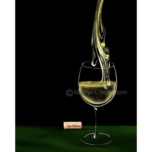 White Wine - Vin Blanc 2, Open Edition Art Print