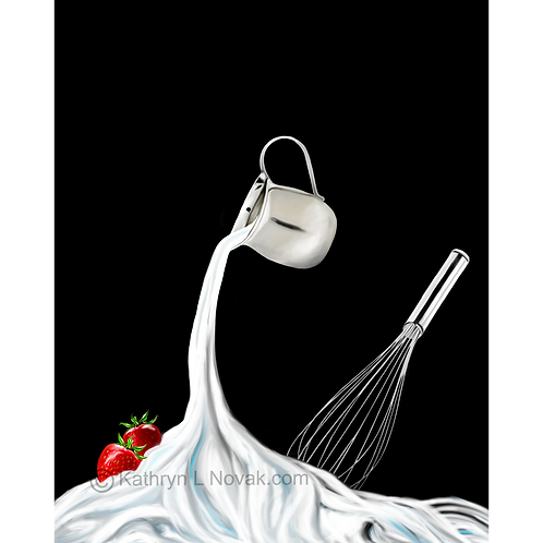 Whipped Creame - Creme Fouettee, Open Edition Art Print