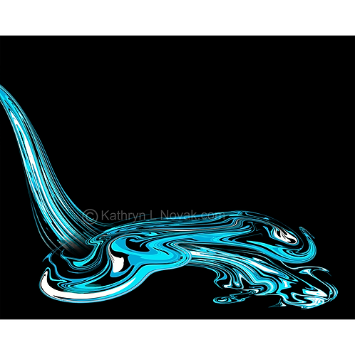 Fluid, Open Edition Art Print