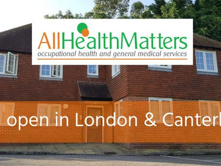 CORONAVIRUS: All Health Matters still open in London and Canterbury
