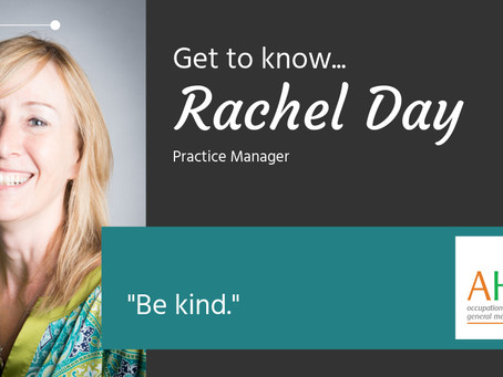 Get to know us.... Rachel Day, Practice Manager