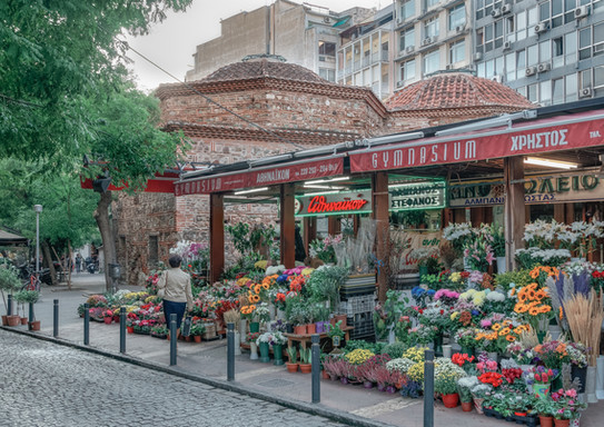 Flower Market, Thessaloniki, Greece