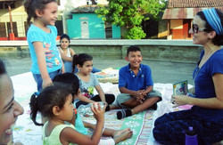 Smiles at Story Hour Sutiaba Plaza
