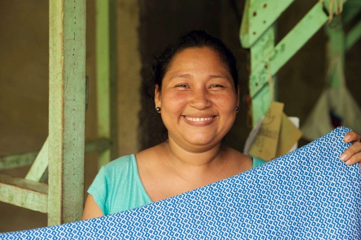 Daniela, a talented weaver