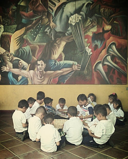 At the City Library León, Nicaragua
