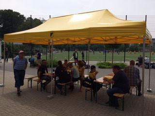Vereinseigene Pavillions für Feste und Feiern