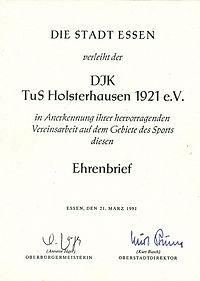 1991 Ehrenbrief Stadt Essen.jpg