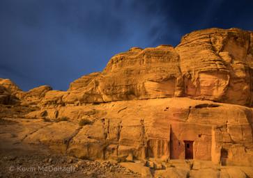 Moonlit sandstone, Jordan