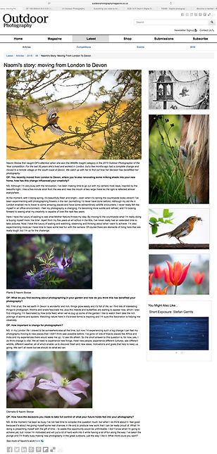 Naomi Stolow's online article by Outdoor Photography Magazine