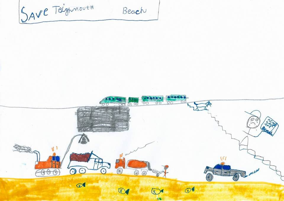 Drawing by a protestor, age 8, straight after the Human Chain event.