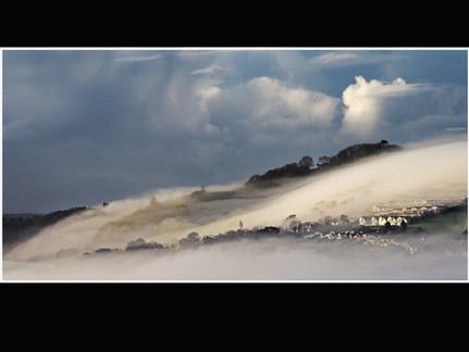 Morning mist over Shaldon