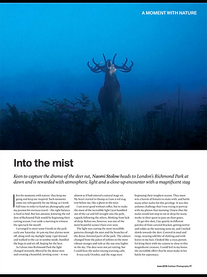 Outdoor Photography Magazine Article by Naomi Stolow
