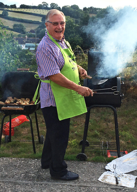 Bob Clowes manning the barbecue.  Photo © Peter Sillifant