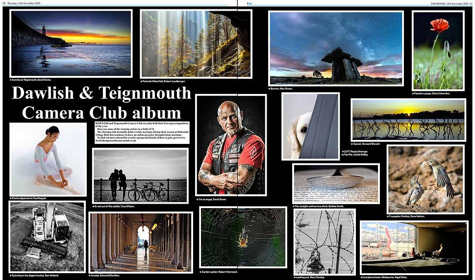 Dawlish & Teignmouth Camera Club in the newspaper
