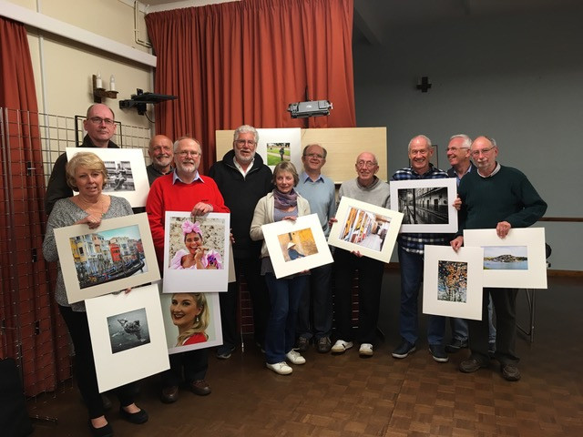 Winners with their images (L to R) - Leslie Cooper, Paul Lawson, Nigel West, Barry Holmes, Bob Normand, Denise Searle, Peter Hyatt, Tony Wilson, Ken Holland, Kevin McDonagh and Graham Eteson