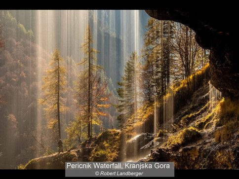 Pericnic waterfall, Kranjska Gora