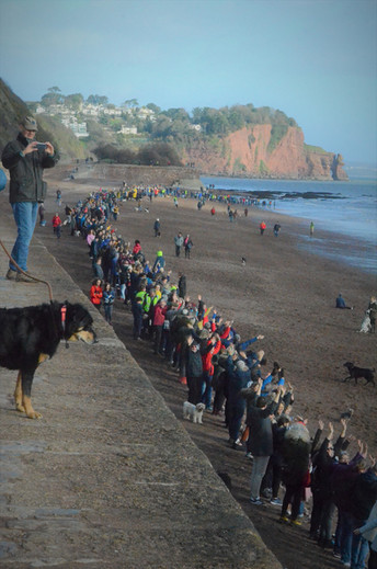 Save Holcombe and Teignmouth beach Human Chain protest