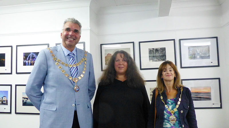Robert Phipps (Mayor of Teignmouth),  Naomi Stolow (Chair), Alison Foden (Mayor of  Dawlish)