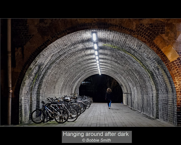 Hanging about after dark