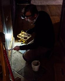 National Trust plaster restorer