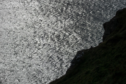The sparkling sea