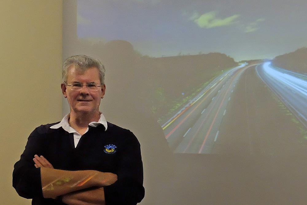 John Baker talking at the Dawlish and Teignmouth Camera Club