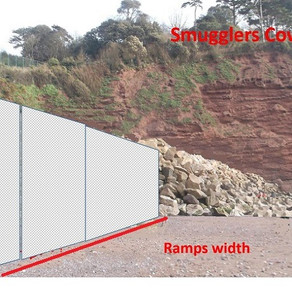 Horrific visualisation of the new sea wall at Holcombe Beach and ways to help the campaign