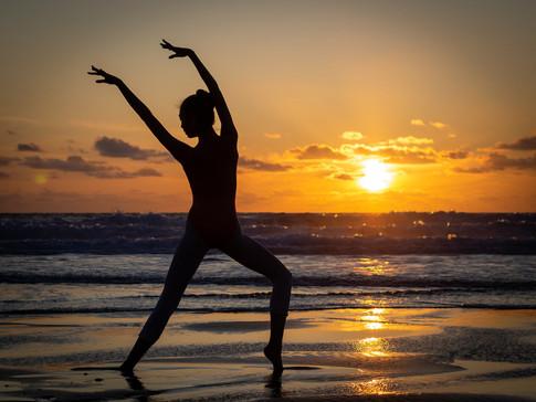 A dance at sunset
