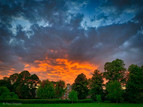 Fiery Sunset over the Grange