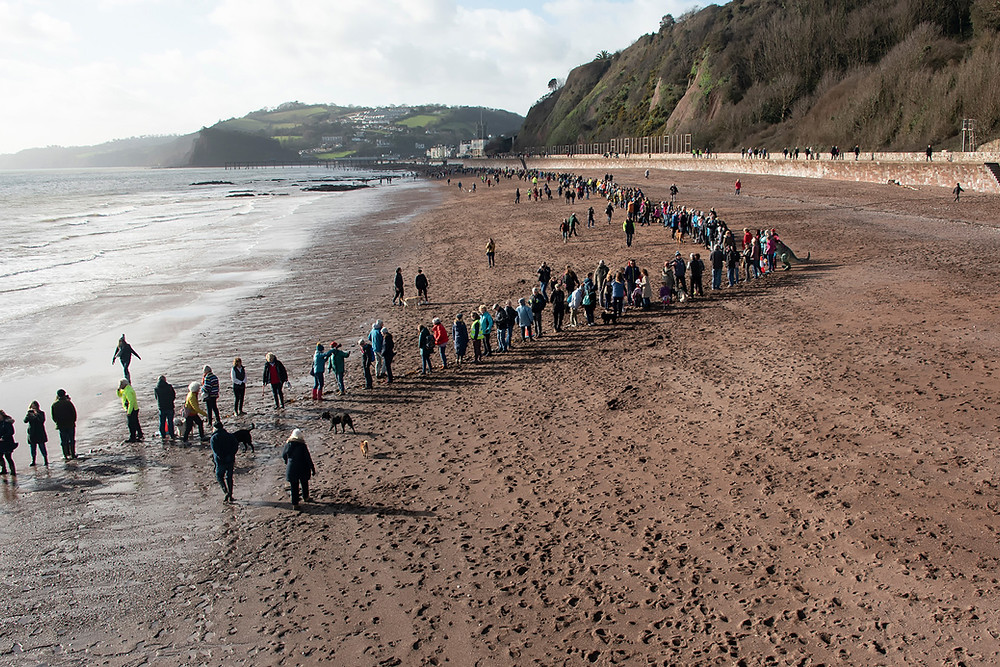 View from Sprey Point showing the Human Chain - remaining beach to the left, concrete to the right.Taken at low tide © Matt Roffe photography