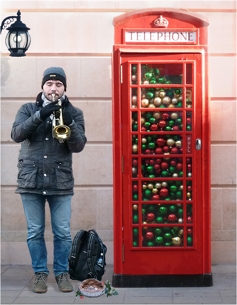 The busker and his baubles