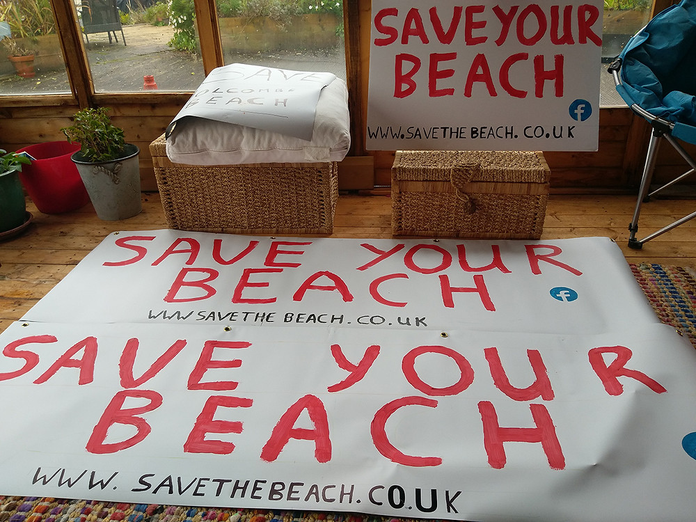 Save your beach banner making