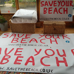 Save the beach banner making!