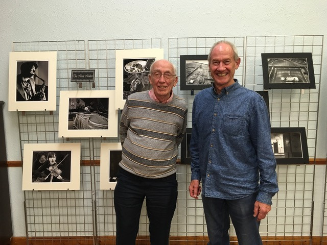 Tony Wilson and Ken Holland with their winning panel of prints