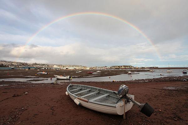 Rainbow over Teignmouth ©Bob Clowes