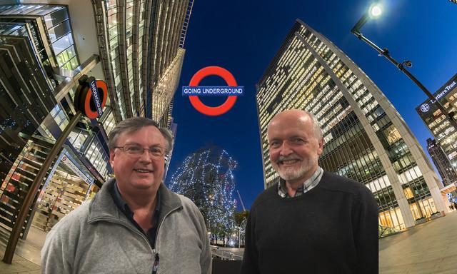 Going underground. Ian Bateman with chairman Nigel West.