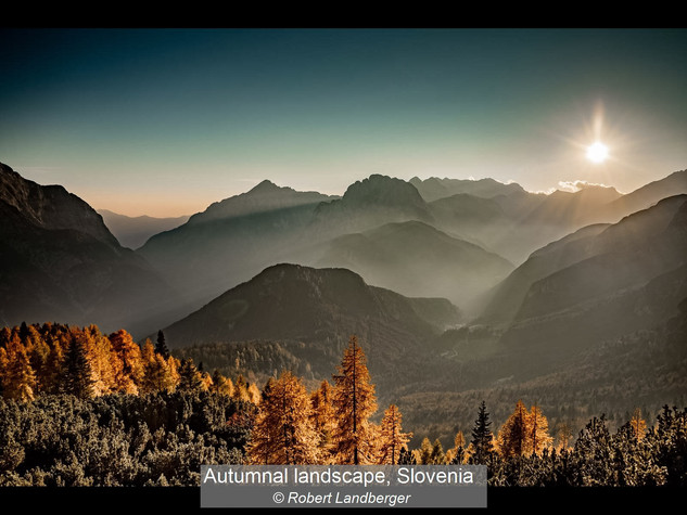 Autumnal Landscape, Slovenia