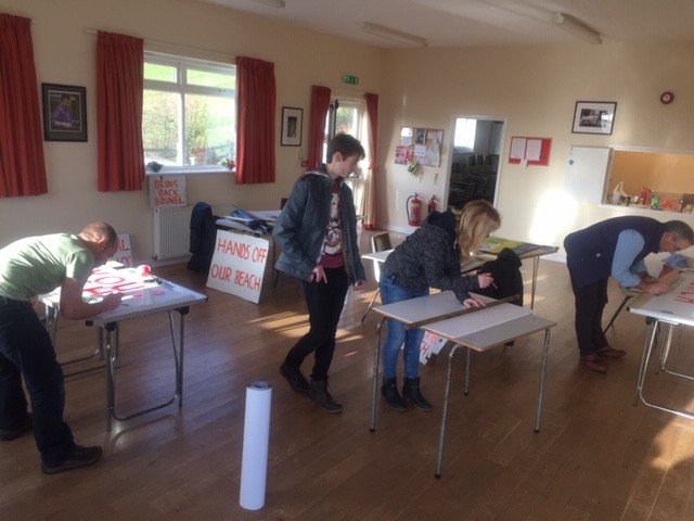 Save the Beach Banner making at Holcombe Village Hall