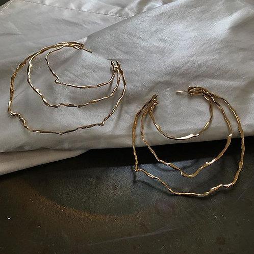 Hoopographic Single Earring