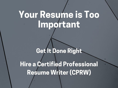 Why Use a Certified Professional Resume Writer?