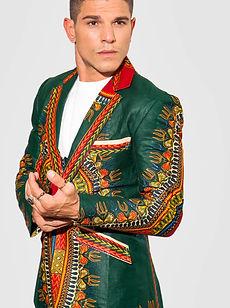 Green Dashiki Blazer