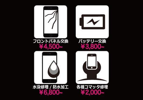 各種iphone修理