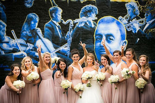 I came across this awesome bridal party