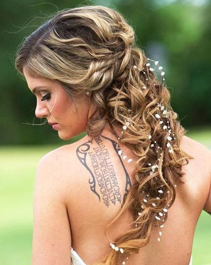 Best wedding hair Cincinnati, Texture Braid hair all down