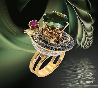 эксклюзивное коктейльное кольцо