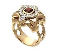 мужской золотой перстень с драгоценным камнем