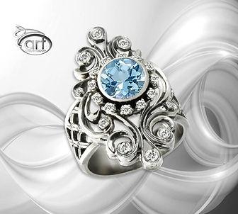 кольцо из белого золота снежная королева