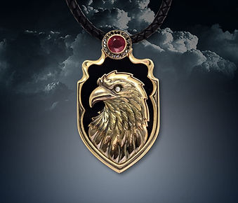кулон орел из золота